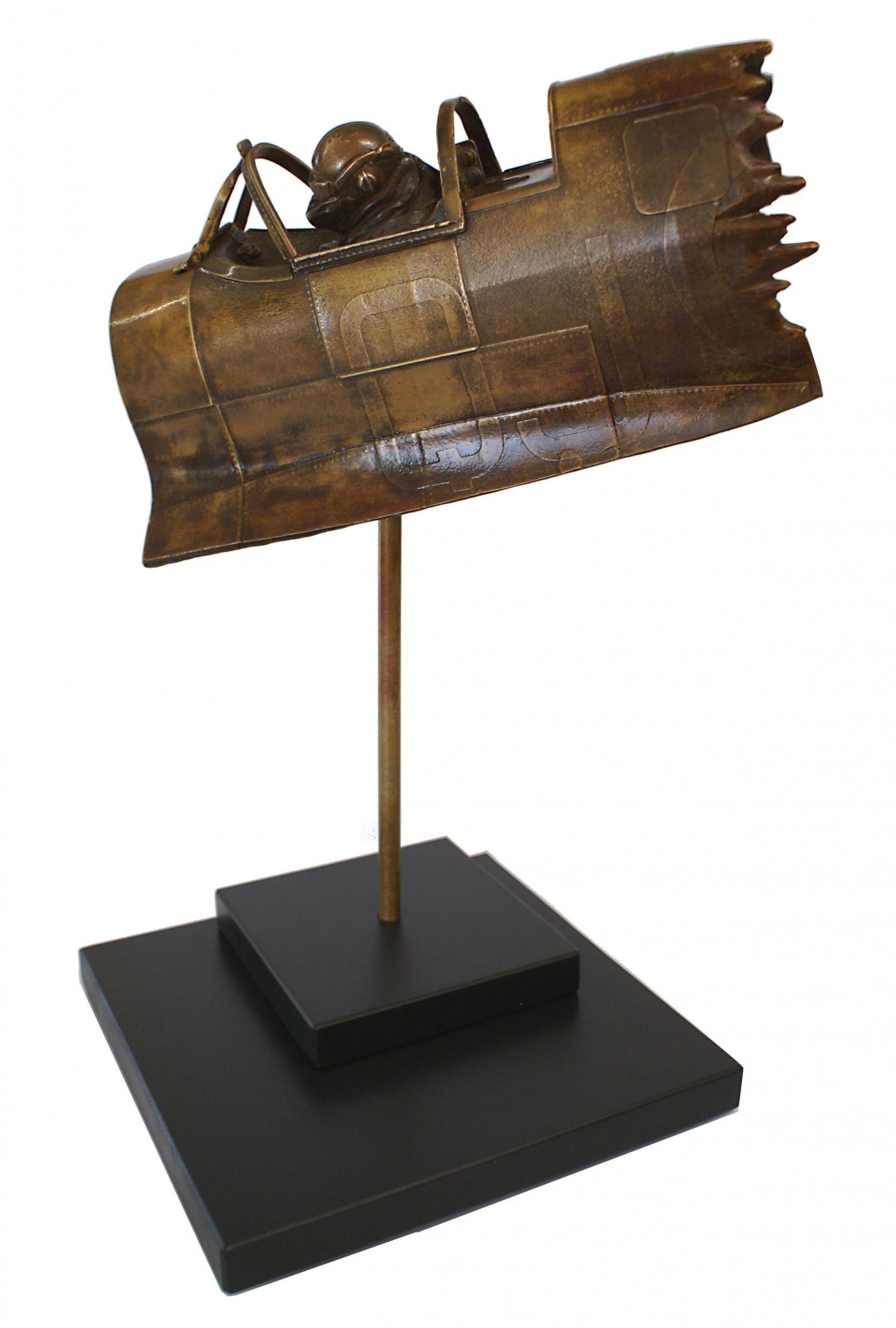 Geoffrey Wellum DFC Bronze Spitfire Sculpture
